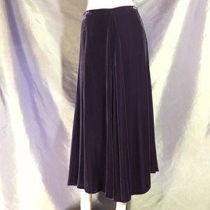 Eileen Fisher silk velvet maxi skirt